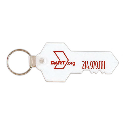 Promotional Key Shaped PVC Keychain