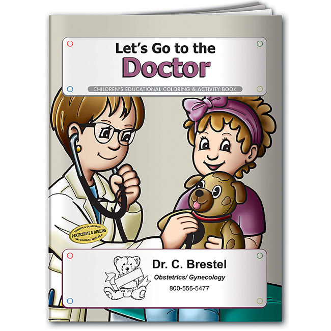 Promotional Let's Go to the Doctor Coloring Book