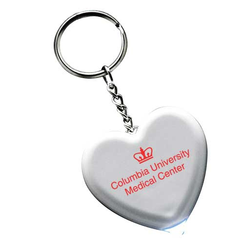 Promotional Light Up Heart Keytag