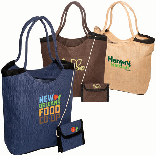 Promotional Market Jute Tote with Wallet