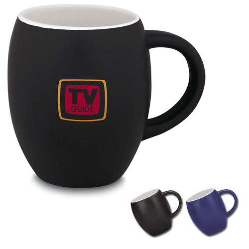 Matte Barrel Ceramic Mug 16 oz