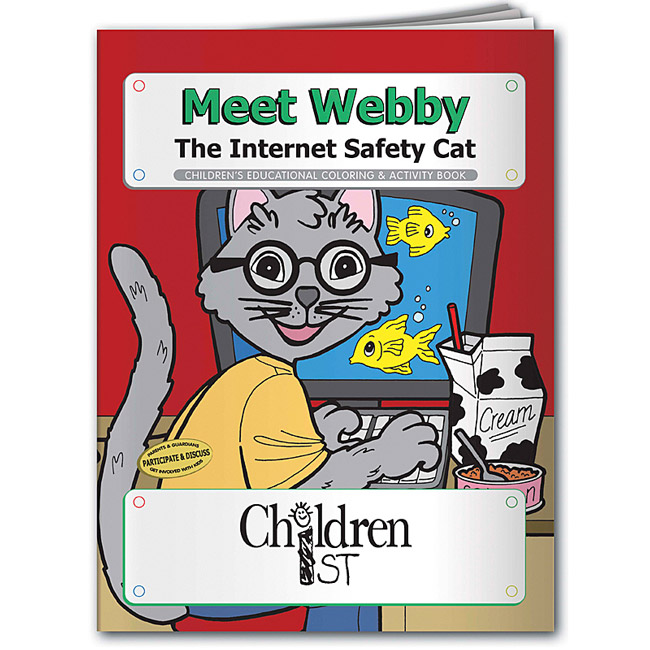 Promotional Meet Webby the Internet Safety Cat Coloring Book