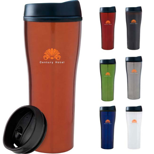 Promotional Metallic Tumbler - 16oz