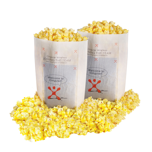 Promotional Microwave Popcorn - White Bag