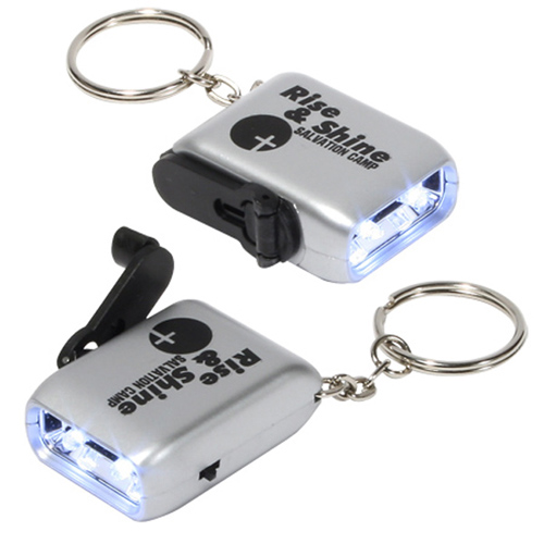 Promotional Mini Dynamo Flashlight Key Chain
