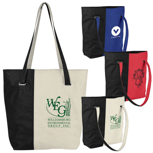Promotional Mod 2-Tone Cotton Tote