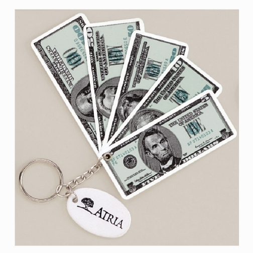 Promotional Money Keychain