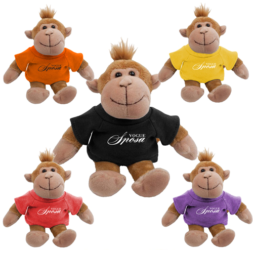 Promotional Monkey Mascot Stuffed Animal