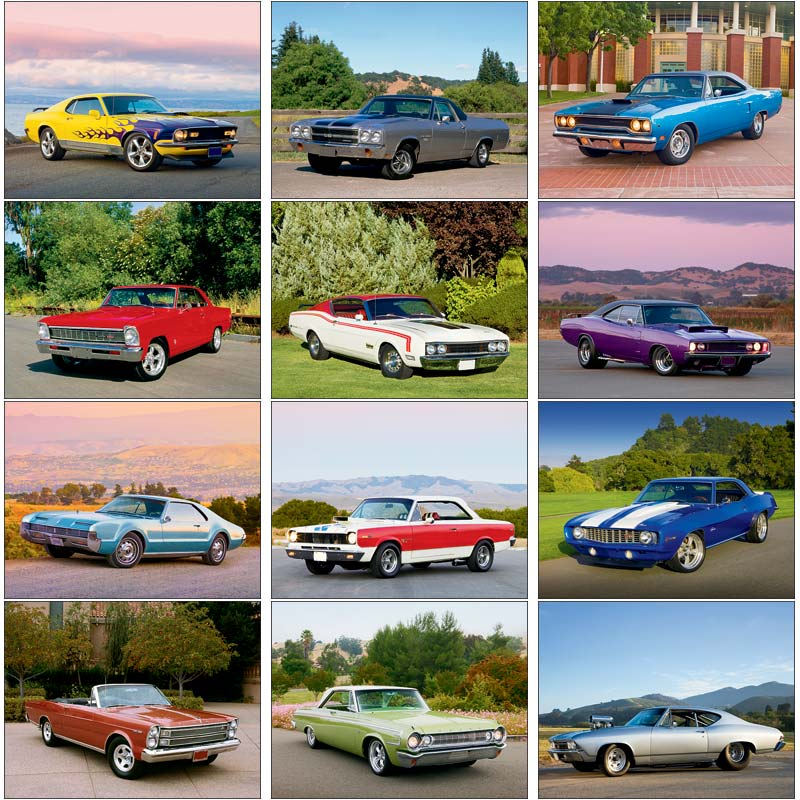 Promotional Muscle Cars 2013 Calendar