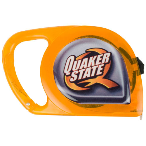 Promotional Orange Carabiner Dome Tape Measure