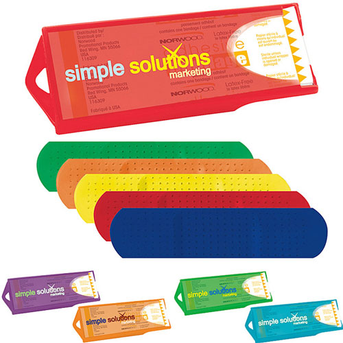 Promotional Original Colored Dispenser with Primary Bandages