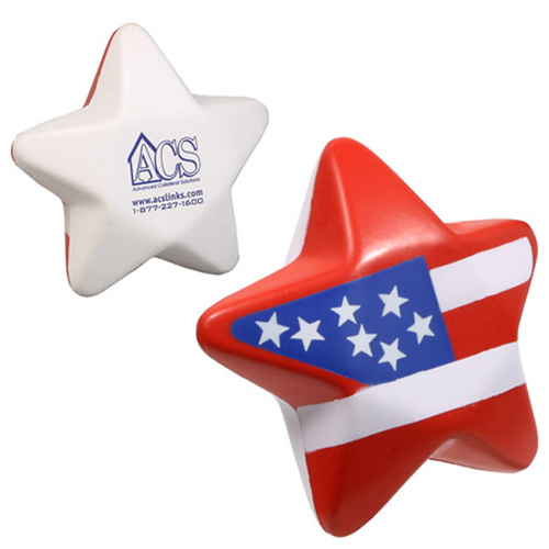 Promotional Patriotic Star Stress Reliever
