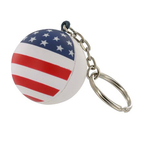 Promotional Patriotic Stress Ball Key Chain