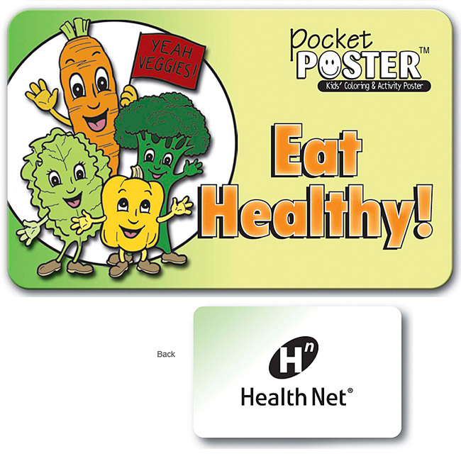 Eat Healthy Pocket Poster | Promotional Eat Healthy Pocket Poster ...