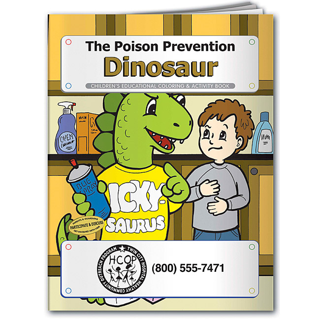 Promotional The Poison Prevention Dinosaur Coloring Book