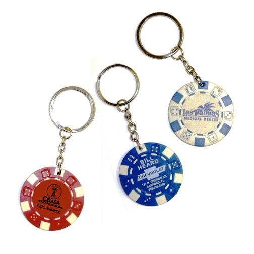 Promotional Poker Chip Key Chain
