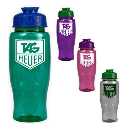 Promotional Poly-Pure with Flip Lid 27oz