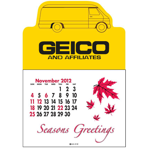 Promotional Press n' Stick Van Calendar