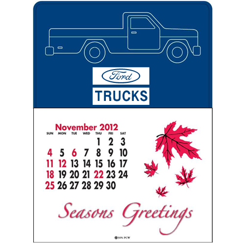 Promotional Press-N-Stick™ - Pick-Up Truck Calendar