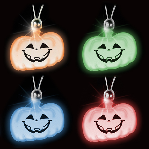 Promotional Pumpkin Flashing Necklace