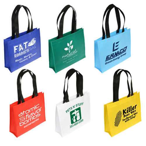 Promotional Raindance Water Resistant Custom Tote Bag