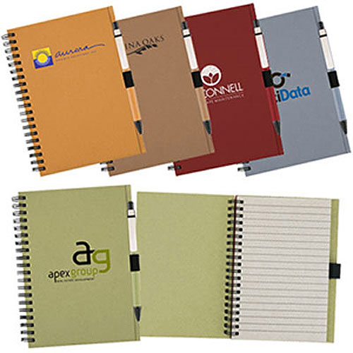 Promotional Recycled Notebook-Matching Paper Pen