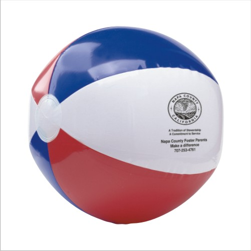 Promotional Red, White and Blue USA Beach Ball - 16
