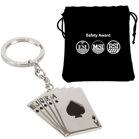 Promotional Royal Flush Keychain