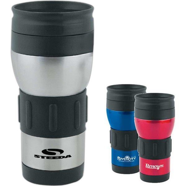 Promotional Rubber Grip Tumbler