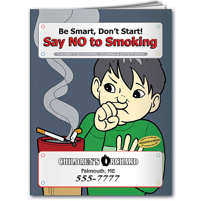 Promotional Say No to Smoking Coloring Book