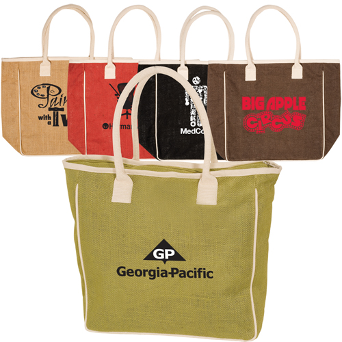 Promotional Seville Jute/Canvas Tote