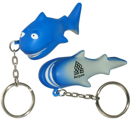 Promotional Shark Key Chain Stress Ball