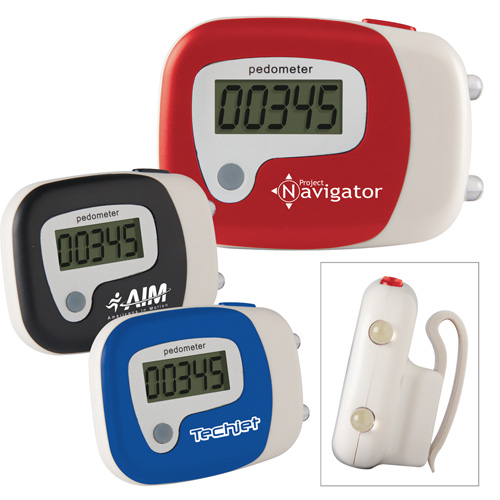 Promotional Single Function Pedometer/LED Flashlight Combo