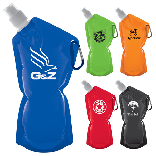Promotional Sip & Store Collapsible Water Bottle - 20oz