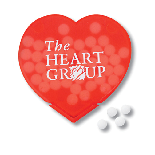 Promotional Slim Mints Heart Design