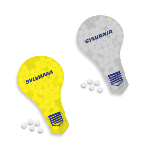 Promotional Slim Mints Light Bulb Design
