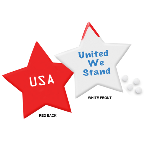 Promotional Slim Mints Patriotic Star Design
