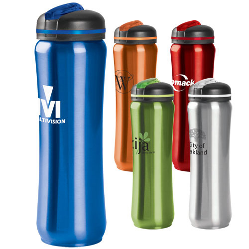 Promotional Slim Stainless Water Bottle - 28oz