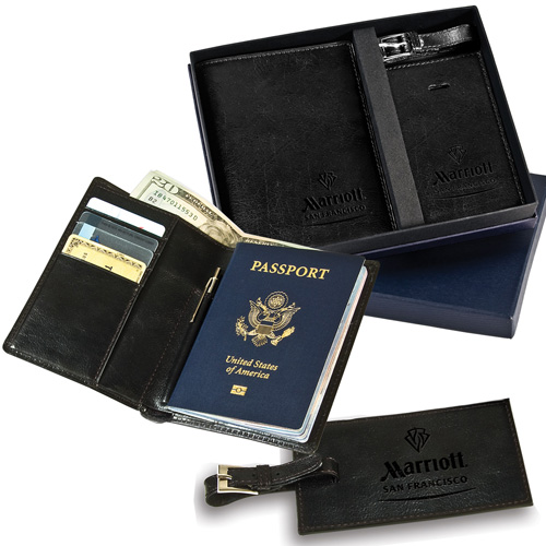 Promotional Soho Passport & Luggage Tag Set