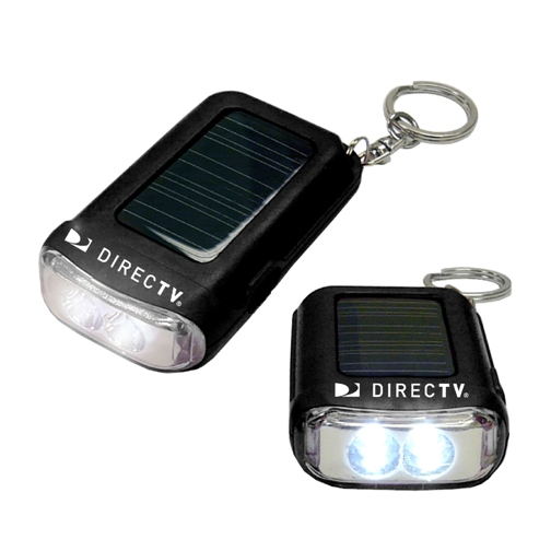 Promotional Solar Flashlight Key Chain