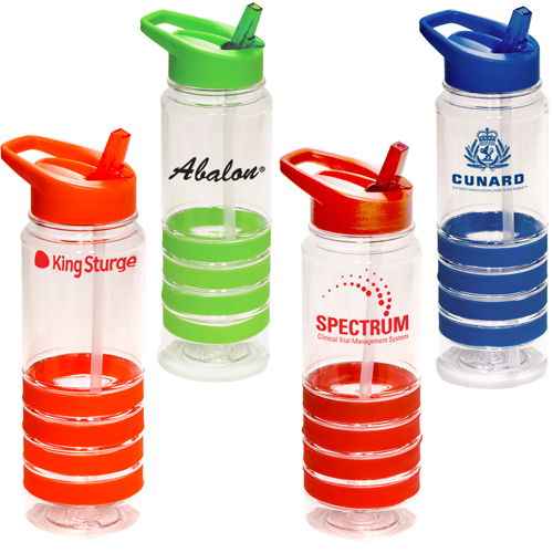 Promotional Stripe Band Sipper
