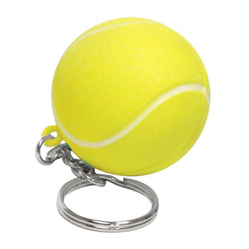 Promotional Tennis Ball Stress Reliever Key Chain