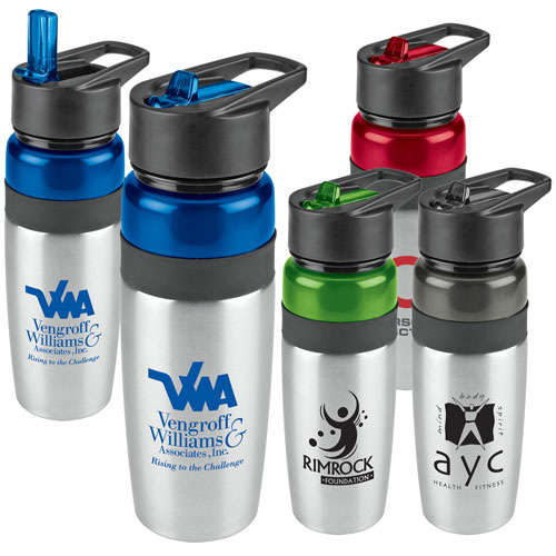Promotional Titan Stainless Water Bottle with Loop - 25oz