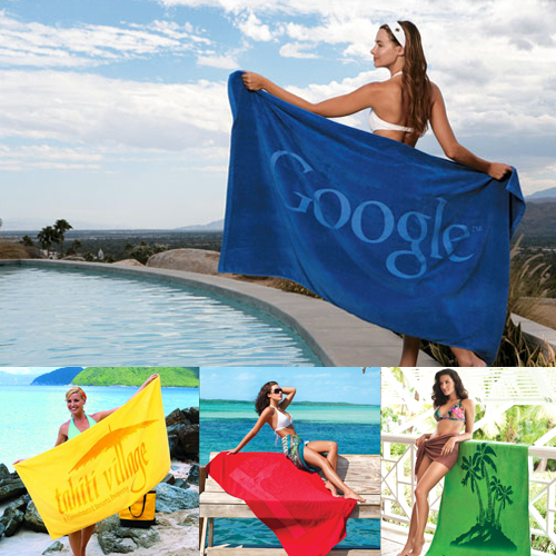 Promotional Tone on Tone Signature Beach Towel