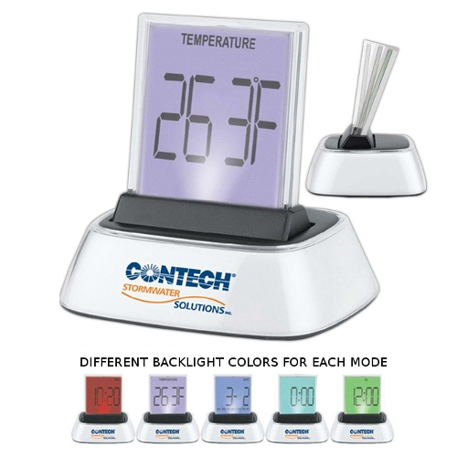 Promotional Touch-Time Light-Up Desk Clock