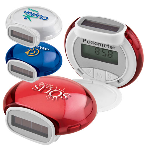 Promotional Translucent Bubble Solar Pedometer