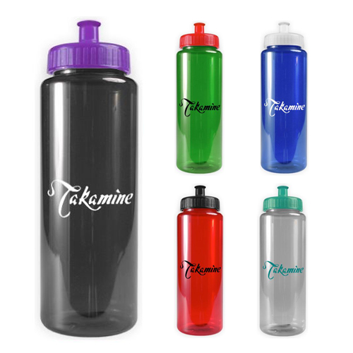 Promotional Transparent Color Bottle - 32 oz - BPA Free