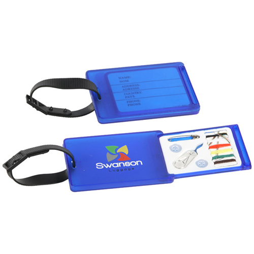 Promotional Travel Aid Luggage Tag and Sewing Kit