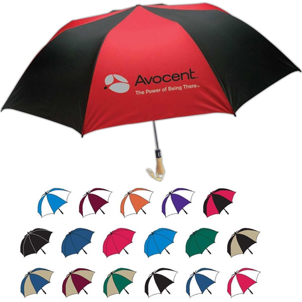 Promotional Traveler Large Auto-Open Folding Umbrella