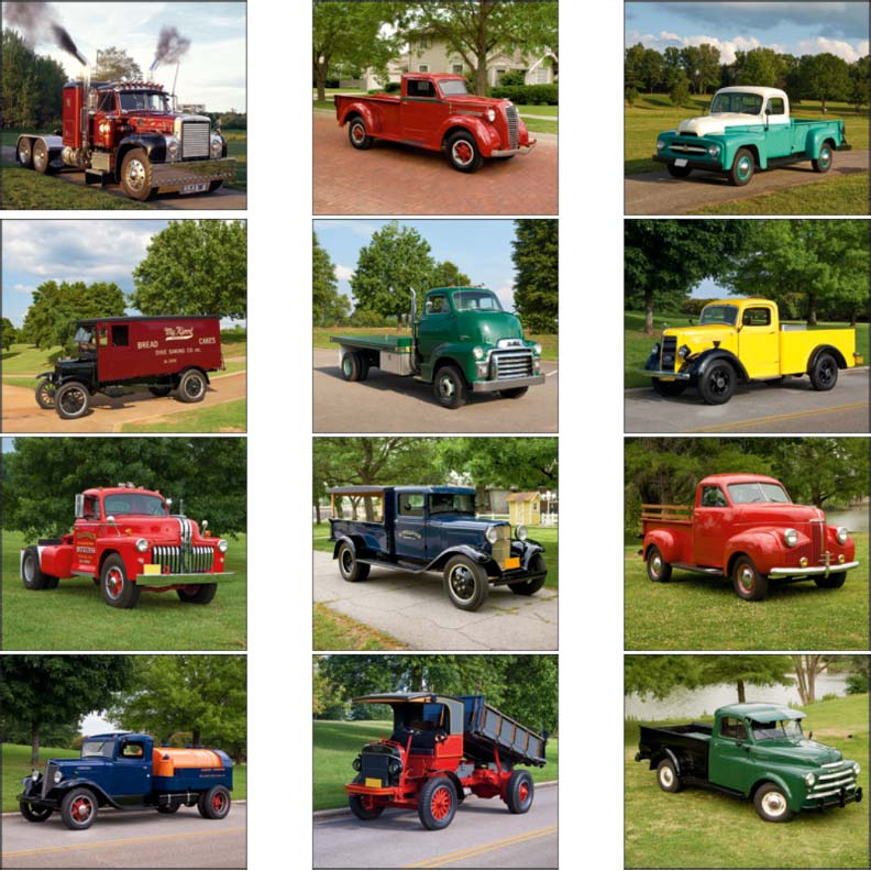 Promotional Treasured Trucks Wall Calendar